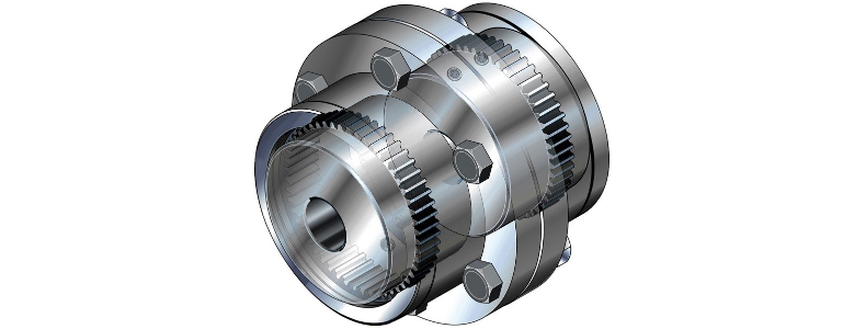 What is the reason for using a coupling with limited end float?