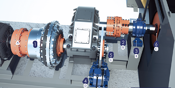 Belt conveyor drive with HENFEL and RINGFEDER products
