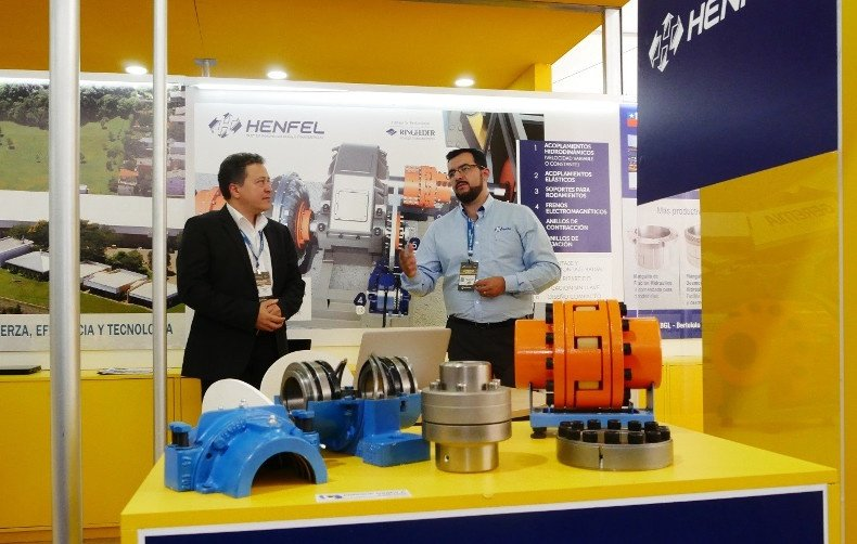trade fair stand Henfel at Expomin 2018