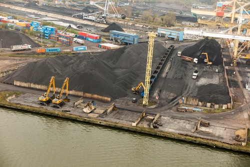 Harbor Loading Bulk Material