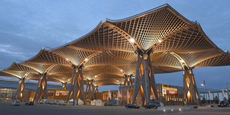 EXPO-wooden-roof-Hannover-Messe
